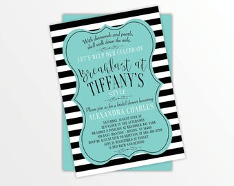 Breakfast at Tiffany's Bridal Shower Invitiation