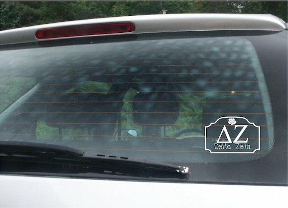 Delta zeta car decal vinyl lettering