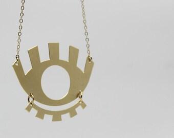 Eye necklace / original necklace / minimal necklace / gold necklace