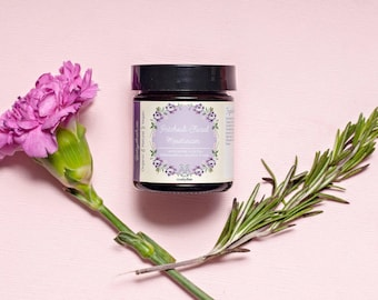Patchouli Facial Moisturizer, Acne Prone Skin Creme, Nourishing Natural Face Cream, Calming, Hydrating, Soothing, Cruelty Free Vegan Organic