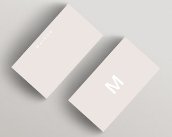 Maison minimalist business card template business card maison beige minimalist business card template business card template flashek Choice Image