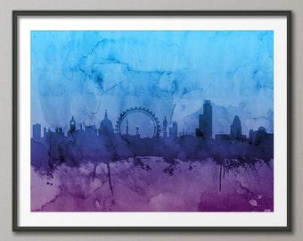 London Skyline, London Cityscape England, Art Print (989)