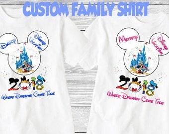 Family disney world shirts 2018, Disney Family Shirts, Matching Family Disney Shirts, Personalized Disney Shirts for Family  2018 des58