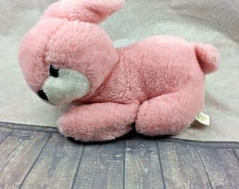 Vintage Cuddle Wit Pink Bunny Rabbit Easter Plush #U