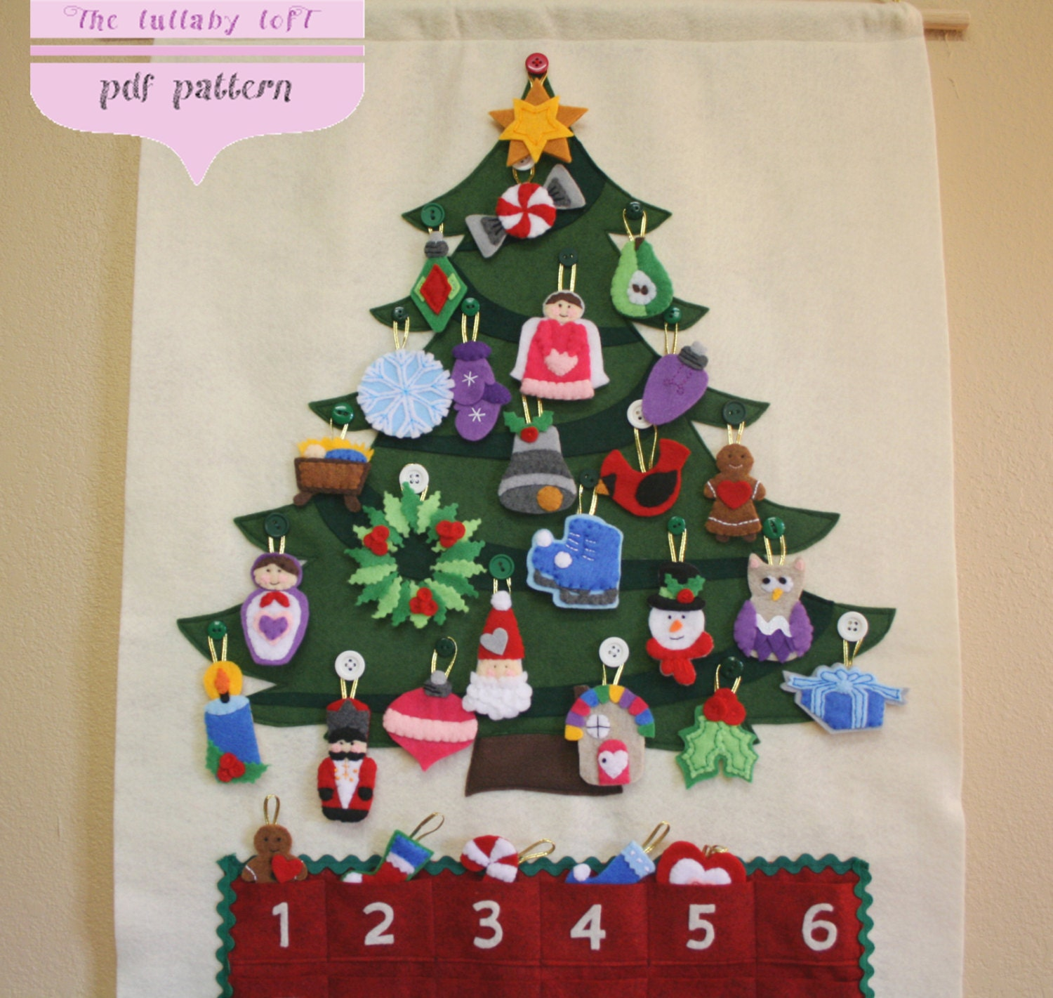 Christmas tree advent calendar pattern 29 ornaments zoom solutioingenieria Image collections