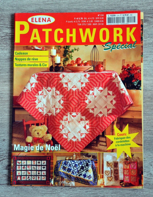 magazine elena patchwork 2h sp cial magie de no l. Black Bedroom Furniture Sets. Home Design Ideas