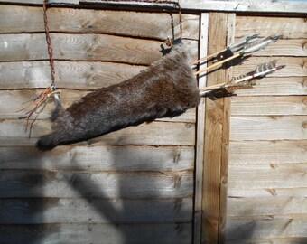 Fallow deerskin quiver