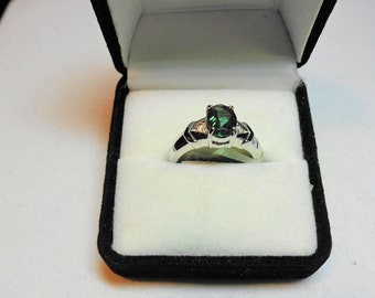 Andesine Ring 14kt.  Andesine from Tibet in a 14kt. White Gold Ring with Diamond Accents.