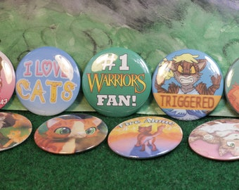 Favorite Set of 9 - Warriors 2.25 in Pin Back Buttons