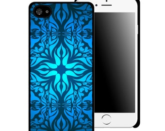 Blue Fluid Pattern Printed Cell Phone Case / iphone 5/5s / iphone 6/6s and 6+ / Teen / Tween / Gift Idea