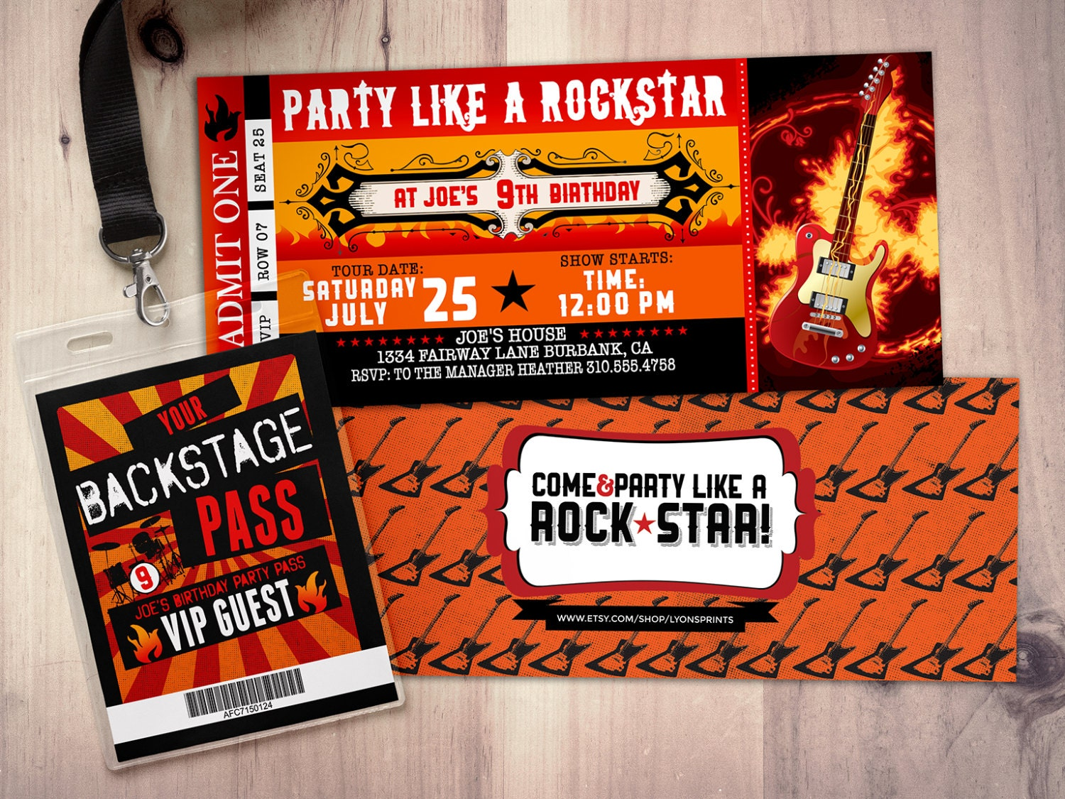 Star concert ticket birthday party invitation music zoom filmwisefo Images