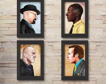 Breaking Bad illustration 4 pack special