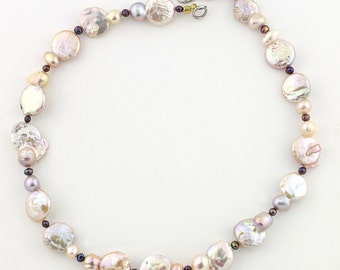 Coin Pearl Necklace  KP4458