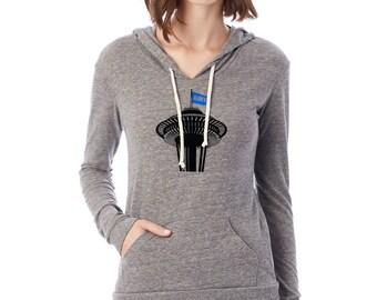 Seattle Football womens hoodie. Hawks Lightweight hoodie.