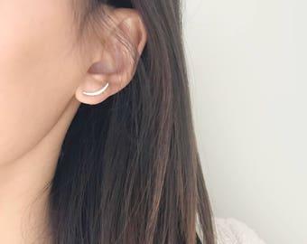 Swoop Climber Post Earring / 925 Sterling Silver Earrings