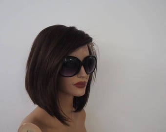 IG Alexyhair front lace short wigs natural hairline plucked brazilian 8a hair