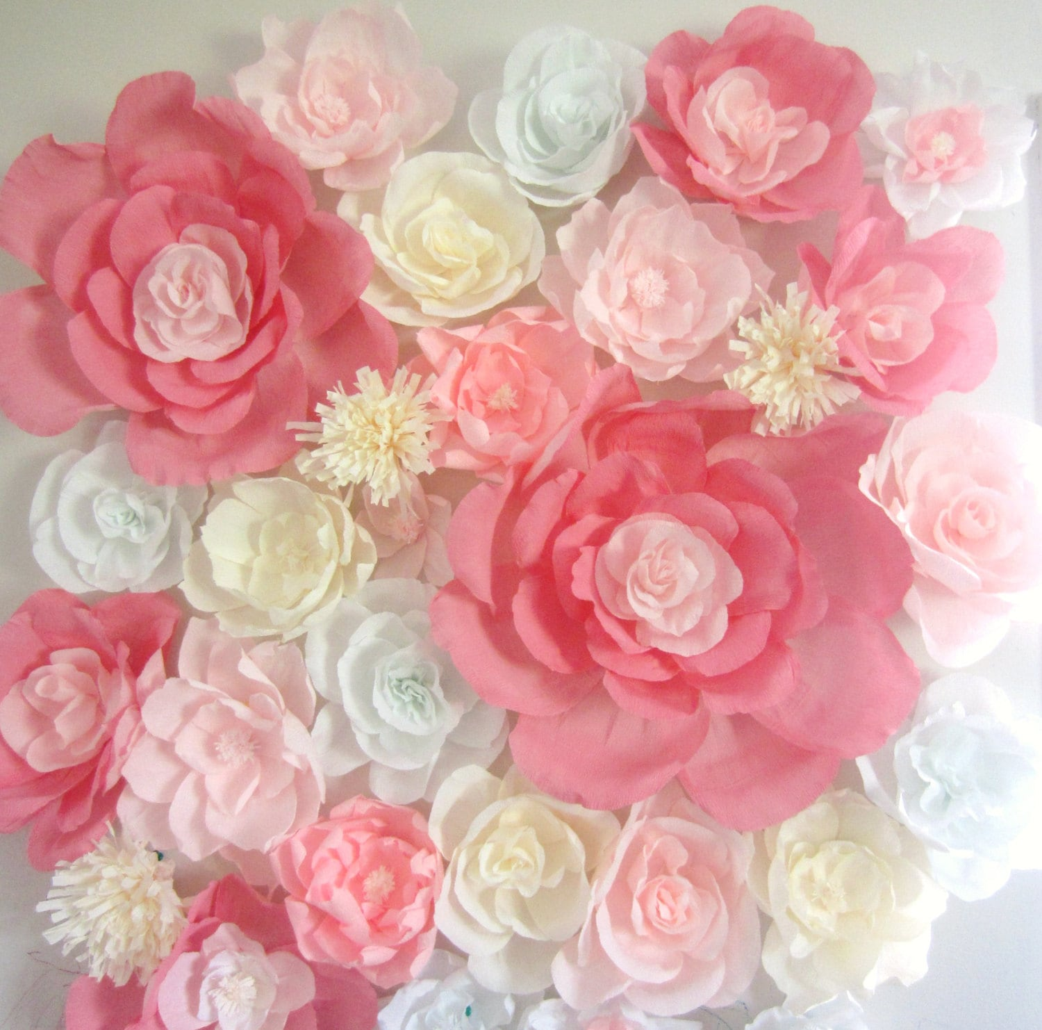 Giant Paper Flower Wall Display 4ft X 4ft Wedding Backdrop