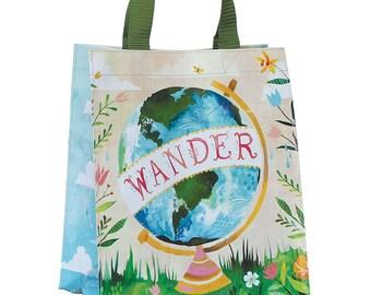 Wander Reusable Tote Bag   Small Grocery Bag