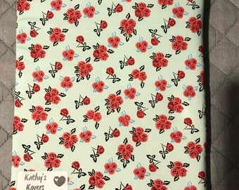 Pink Flowers Book Sleeve - Small