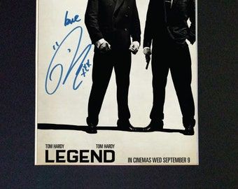 LEGEND TOM HARDY Mounted Signed Photo Reproduction Autograph Print A4 575