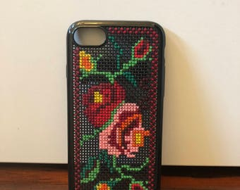 iPhone Case - Red Flower Buttons by Maria Maria