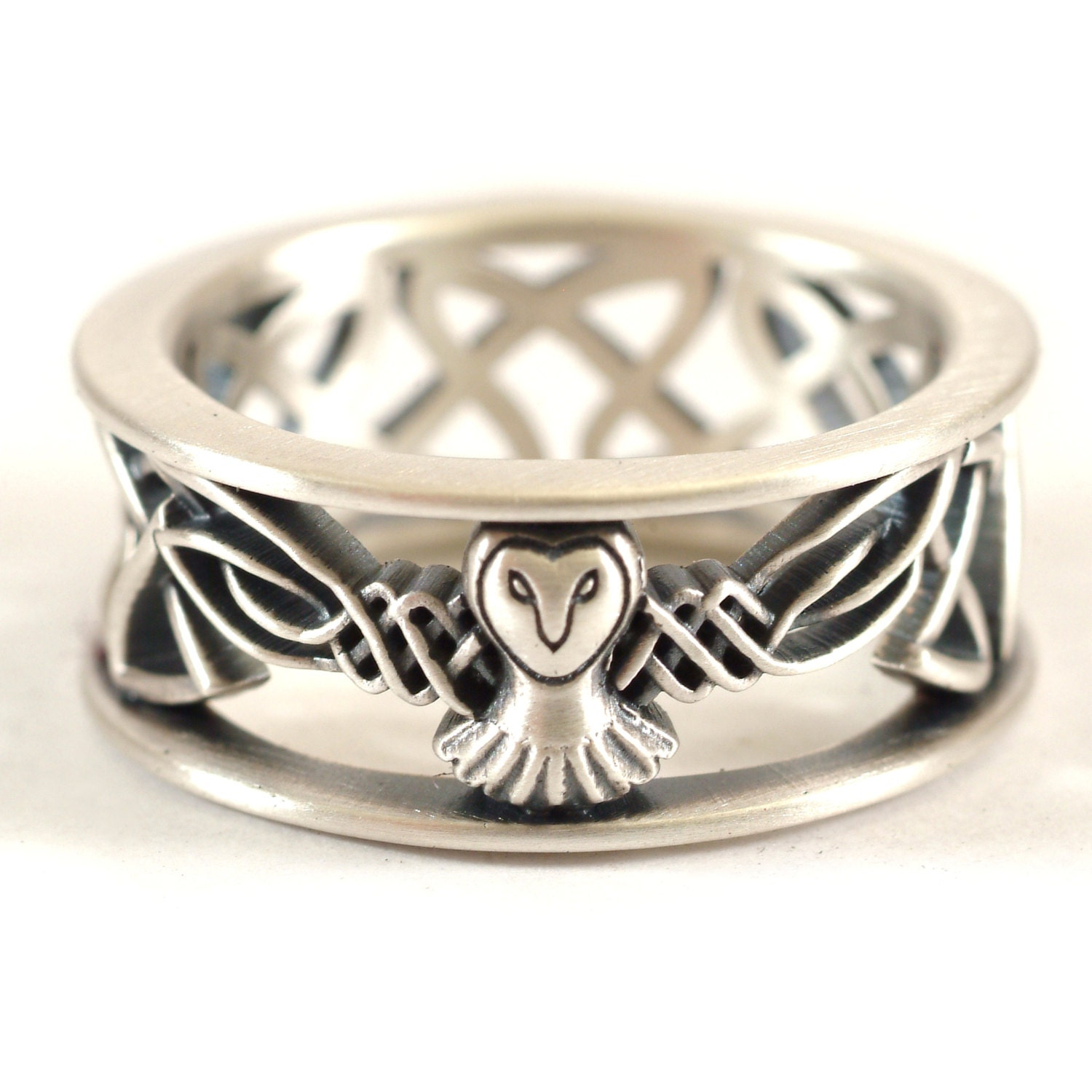 orders on shipping celtic stainless ring watches free knot jewelry rings elya overstock over claddagh with product steel eternity design wedding
