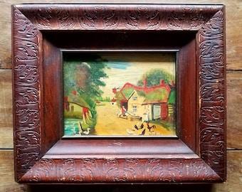 Antique Oil Painting by N. Olmstead, Original Painting, Antique Paintings, N Olstead Artist