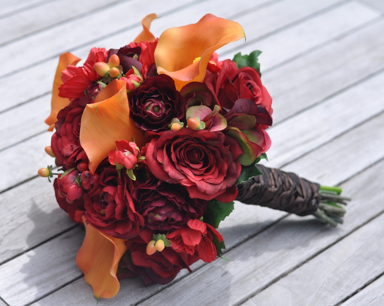 Vibrant Fall Wedding Bouquet Keepsake Bouquet Bridal