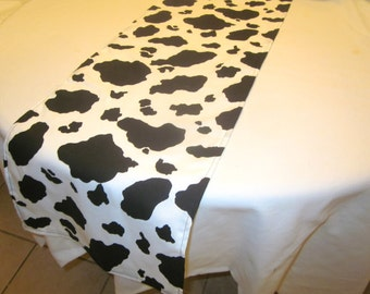 Cow Print Table Runner, Birthday Party, Toy Story Party, Western Party, Cowboy, Cowgirl, Baby Shower, Bridal Shower