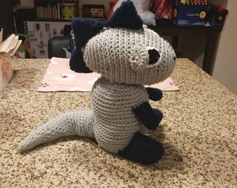 Large Crochet Dinosaur