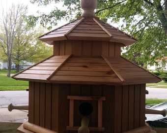 Reclaimed Cedar Octagon Birdhouse