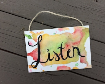 Listen 4x6 Watercolor Painting