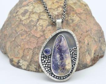 tiffany stone iolite sterling silver necklace pendant