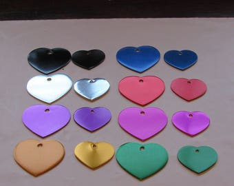 Custom Engraved Dog/Cat Pet ID Tag-Heart Shape-Large or Small Size-8 Colors -Free Split Ring-Free Shipping