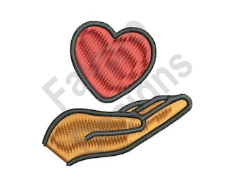 Heart And Hand - Machine Embroidery Design