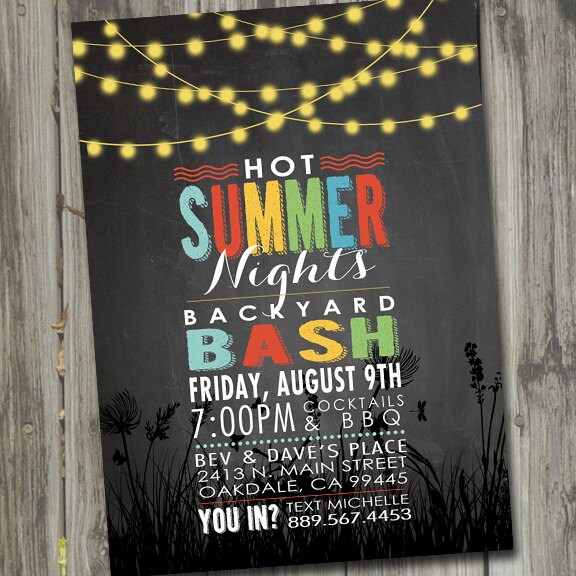 Hot Summer Nights Party Invitation Printable