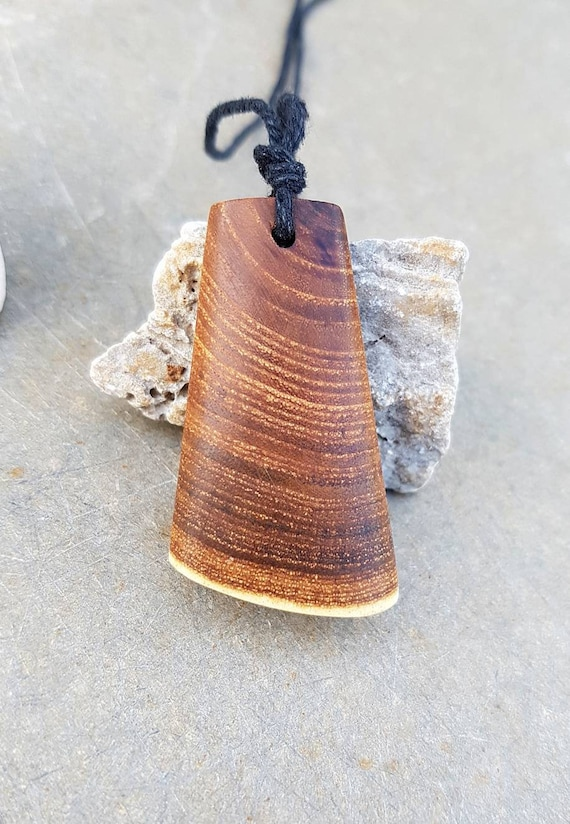Strenght Symbol Necklace Maori Wood Pendant Gift For Him
