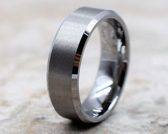 Tungsten Ring, Men's Tungsten Wedding Band, Men's Tungsten Ring, Tungsten Band, Tungsten, Men's Tungsten, Personalized Engraving, Men's Ring