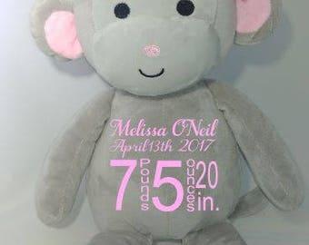 Birth Announcement Monkey