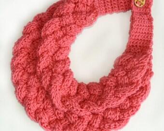 Braided Cowl - Crochet