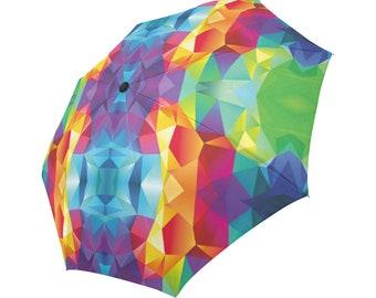 Umbrella Colorful Umbrella Designed Umbrella Geometric Pattern Umbrella Rainbow Umbrella Photo Print Umbrella Automatic Abstract Umbrella