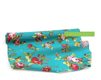 """Teal Vintage Floral Table Runner by We Can Package - 18"""" x 108"""""""