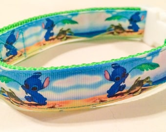 Stitch with sea turtles collar, leash, or matching set