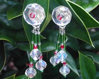 Icy Holiday Earrings-free shipping