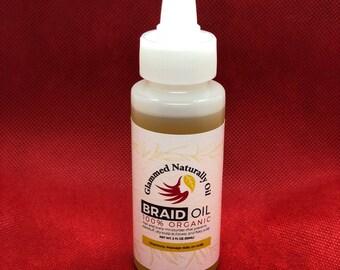 GlammedNaturallyOil 2oz Braid Oil