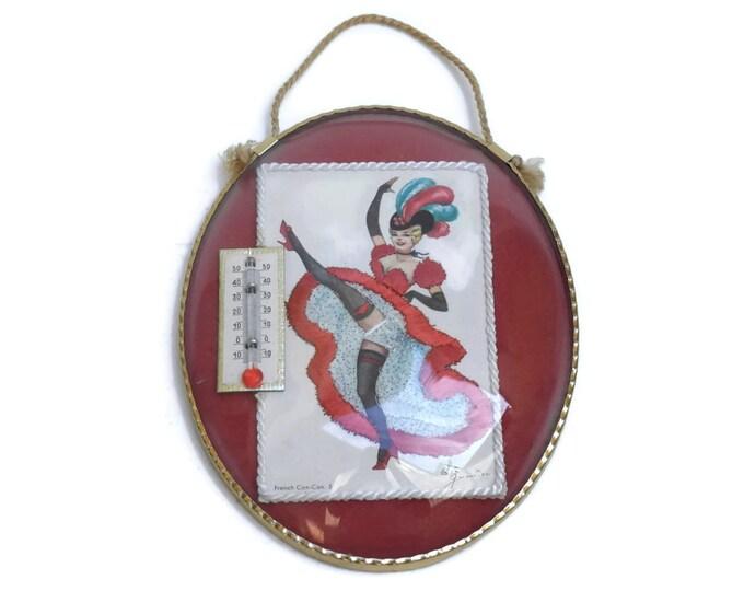 French Cancan Dancer Thermometer. Eloi Gunnier Postcard. Centigrade Thermometer. Paris Moulin Rouge Souvenir.
