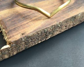 Brass Cuff - Bracelet Triangle