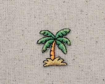Small - Mini - Tropical Palm Tree - Iron on Applique - Embroidered Patch - 155549A