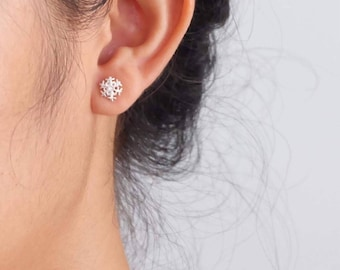Sterling Silver Snowflake Stud Earrings   Stud Earrings   Christmas   Sterling Silver    Snowflake Earrings   Winter Earrings