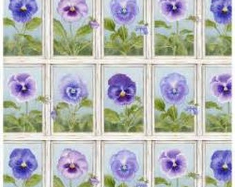Half Yard Fabric- Pretty as a Pansy-Jane Shaskey-Patches
